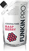 Funkin Raspberry Puree | Real Fruit, Two Ingredient, Natural Mixer for Cocktails, Drinks, Smoothies | Vegan, Non-GMO, Gluten-Free (2.2 lbs)