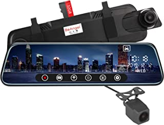 """10 Inch Touch Screen Car Camera 10"""" Rearview Mirror FHD 1080P Dash DVR Cam Backup Camera Night Vision Front and Rear Dual ..."""
