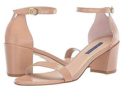 Stuart Weitzman Simple City Sandal (Adobe Caviar Patent) High Heels