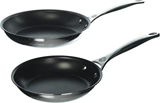 Le Creuset SSP14102 2 Piece Nonstick Stainless Steel Fry Pan Set