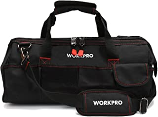 "WORKPRO Close Top Storage Tool Bag, 18"", Black/Red, W081023A,Black&Red"