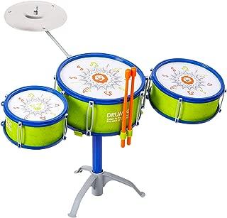 M SANMERSEN Jazz Kids Drum Set, Kids' Toy Drum Set Children Drum Set Musical Instrument Toys for 3 Years Old Kids Boys, Birthday / Xmas / New Year Gifts for Kids