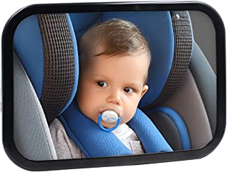 Safe Baby Car Mirror for Rear View Facing Back Seat for Infant Child,Fully Assembled and Adjustable,Backseat Shatterproof ...
