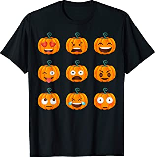 Vintage Pumpkin Pumpkin Emoji Halloween Costume T-Shirt