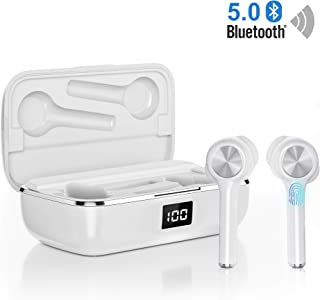 $54 » Ture Wireless Earbuds Bluetooth 5.0, in-Ear Noise Cancelling Bluetooth Headphones 40H Playtime with Dual-Mic Stereo Headset Touch Control Compatible with Smartphones Tablets