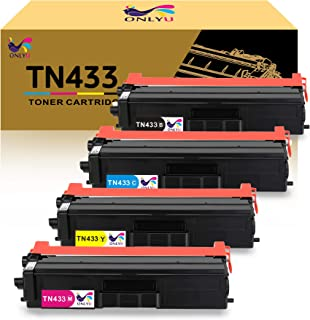 Best ONLYU Compatible Toner Cartridge Replacement for Brother TN431 TN433 for HL-L8360CDW MFC-L8900CDW HL-L8360CDWT HL-L8260CDW MFCL8610CDW MFCL9570CDW Printer (1Black,1Cyan,1Magenta,1Yellow) Review