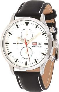 Mini Focus Mens Quartz Watch, Chronograph Display and Leather Strap - MF0015G.03