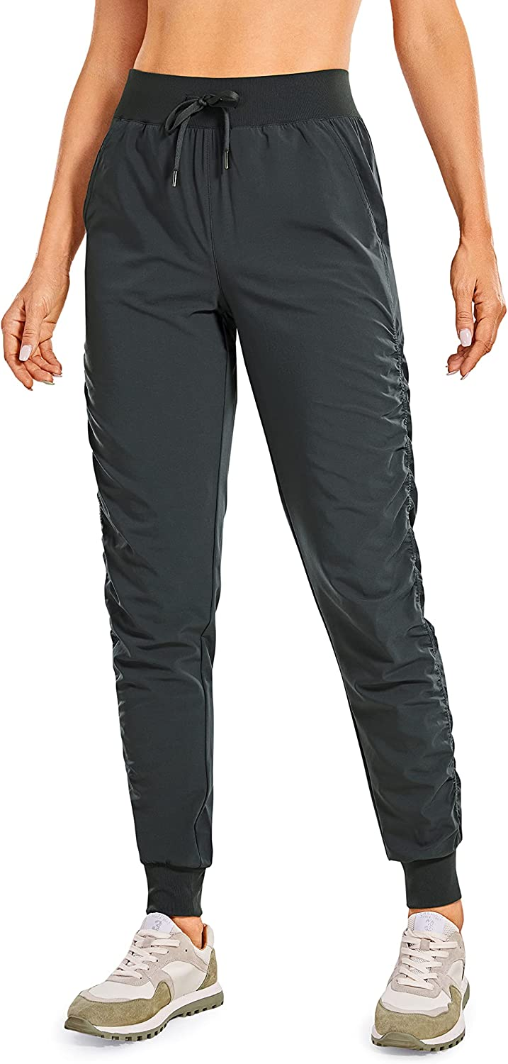 CRZ YOGA Women's Lightweight Workout Drawstring Joggers Special price for a High order limited time A Ruched