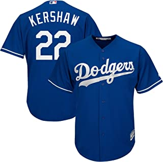 Outerstuff Clayton Kershaw Los Angeles Dodgers MLB Majestic Youth 8-20 Blue Alternate Cool Base Replica Jersey