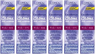 L'Oreal Excellence Creme 9 1/2.1 Extra Light Ash Blonde Tint HC-06216 (6 Pack)