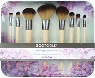 EcoTools-Cruelty Free Confidence in Bloom Brush Set-Cruelty Free Synthetic Taklon Bristles, Recycled Packaging, Recycled Aluminum Ferrules