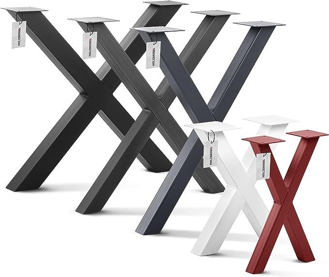 706 opinioni per HOLZBRINK Una Gamba da tavolo, forma X con profili chiusi 40x40 mm, base per