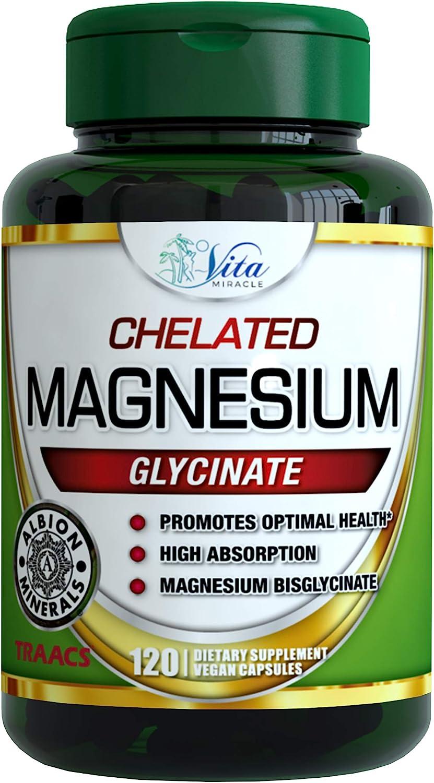 Vita Miracle Max 42% OFF Magnesium Glycinate 200mg Chel - Ultra Bioavailable Indianapolis Mall