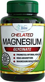 Chelated Magnesium Glycinate 200mg Supplement - High Absorption Vegan Capsules Ultra Bioavailable Buffered Chelate Supplements Albion TRAACS Non-GMO