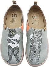 UIN Women's Bear's Hug Cute Cat Travel Canvas Slip-on Shoes