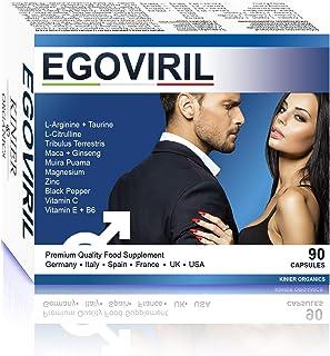 Egoviril BOOSTER POTENZA + TESTOSTERONE | Tribulus Taurina Maca Zinco Ginseng Arginina Citrullina Vitamine | Forza/Energia...