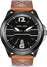 Mens Quartz Watch, Business Casual Fashion Analog Wrist Watch Classic Calendar Date Window, Waterproof 30M Water Resistant Comfortable Genuine Leather Watches