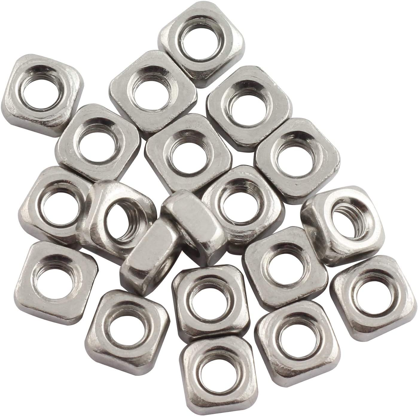 PSCCO 20pcs M3 Square Nuts 304 Luxury goods Nut Quadrate Fast Stainless 5 popular Steel