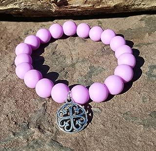 Lavender Silcone Bracelet Bella Cuff not Rustic Cuff Catherine