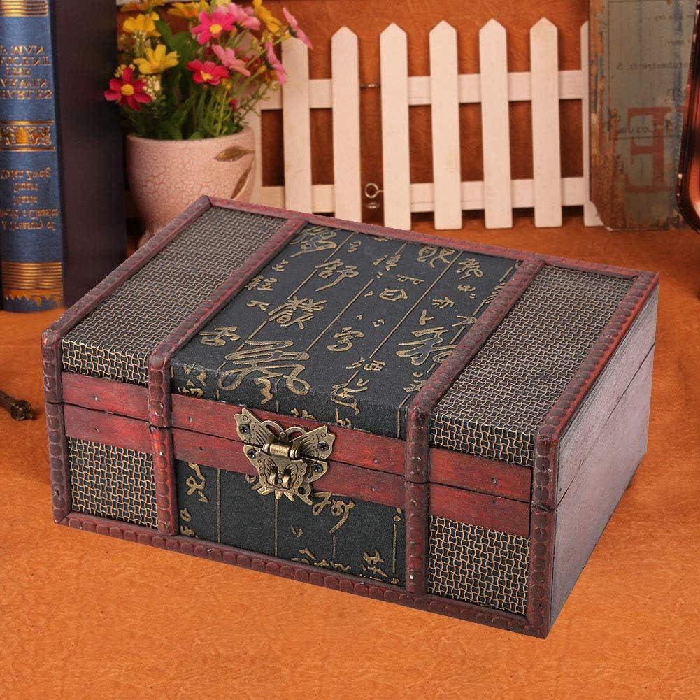 Treasure Chest Superlatite Vintage Max 56% OFF Wooden Storage trunk Portable Easy Home