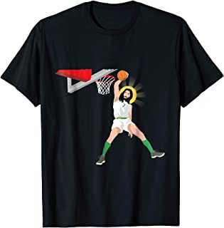 Funny Basketball Jesus Shirt Memes Christian Humor Slam Dunk