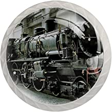 Lade handgrepen trekken ronde kristallen glazen kast knoppen keuken kast handvat,Vintage stoom treinen