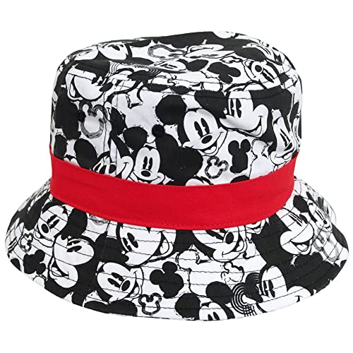 5501bddd487 Disney Mickey Mouse All Over Print Cartoon Youth Kids Fisherman Bucket Cap  Hat Black