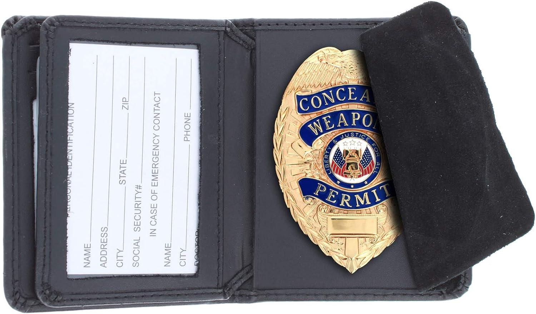 ASR Federal RFID Wallet Hidden Police Badge Genuine Leather ID Holder
