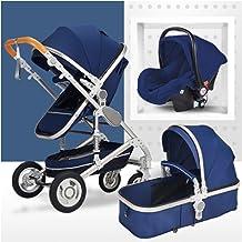 Combinación Baby Stroller-3 en 1 Sistema de viaje Silla de paseo plegable con posición reclinable Más postura del cochecito de bebé Cochecitos infantiles de marco de aluminio con asiento para bebé