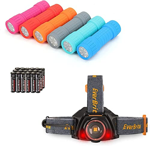 lowest EverBrite 6-pack sale Flashlights & LED Rechargeable Headlamp, AAA Battery online Included sale