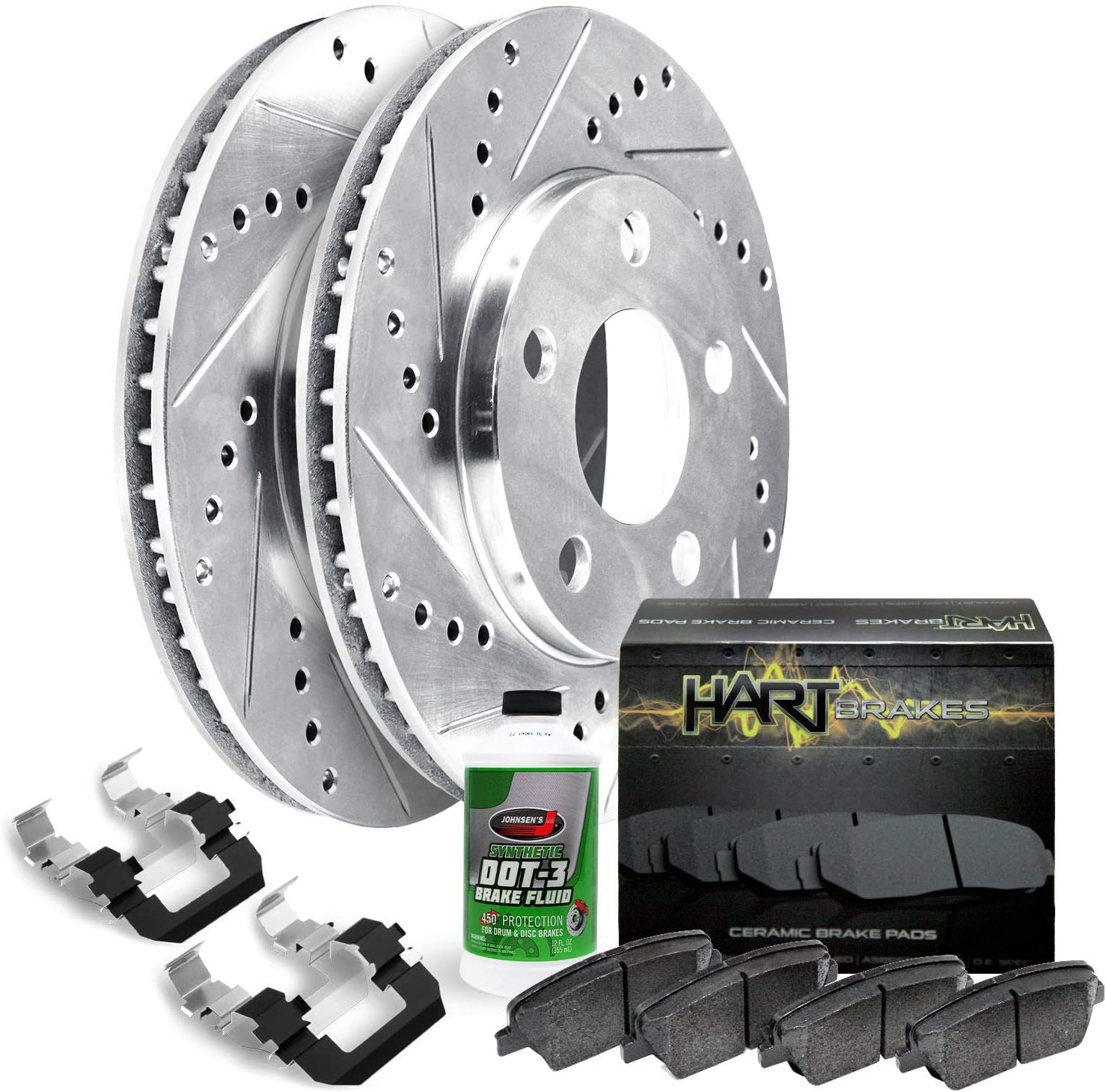 For 2015-2019 Jeep Cherokee Front Rotors+Cerami Our shop most popular Max 66% OFF Brake HartBrakes