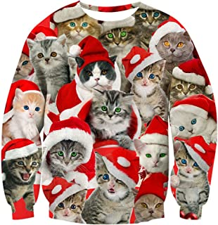 Unisex Ugly Christmas Sweater 3D Print Funny Xmas Pullover Sweatshirt