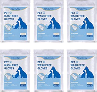 Pet No Washing Glove, Pet Grooming Glove, 18 pcs Cleaning Massage Gloves, Cat and Dog Pet for Disposable Gloves Bath Supplies