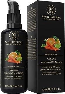 Serum Facial de Vitamina ACE ORGÁNICO 3 VECES MAYOR 100ml - Hidratante Facial Mujer Contorno de Ojos con Acido Hialuronico...