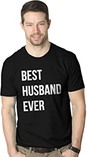 Mens Best Husband Ever T Shirt Funny Novelty Sincere Valentines Day Tee for Guys
