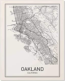 Oakland Poster, Map of Oakland, Oakland Map, City Map Posters, Modern Map Art, City Prints, California Art, Minimal Print, Oakland Wall Art, City Poster, City Map Wall Art, Minimalist Posters, 8x10