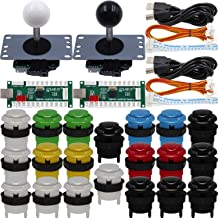 SJ@JX Arcade Game 2 Player Controller DIY Kit Microswitch Button 4&8 Way Joystick Zero Delay USB Encoder Fighting Stick Ha...