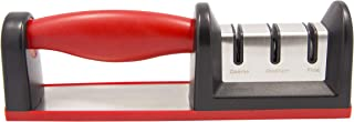 Diamond Sharp 3-Stage Diamond And Ceramic Knife Sharpener Afilador Course Medium Fine Positions Makes This A Pro Chef'S Choice Two Diamond And One Ceramic Sharpening Wheels Quality Guarantee Large Red
