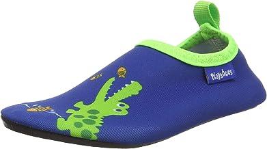 Playshoes kinderen blote voetschoenen, zwemschoenen krokodil aqua schoenen