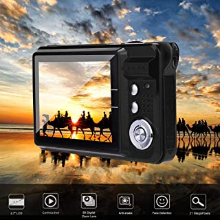 RONSHIN 2.7HD Screen Digital Camera 21MP Anti-Shake Face Detection Camcorder Silver