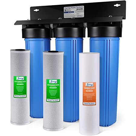Home Master Whole House Water Filter 2 Stage Fine Sediment Carbon Filter Undersink Water Filtration Systems