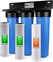 "iSpring WGB32B 3-Stage Whole House Water Filtration System w/ 20"" x 4.5"" Big Blue.."