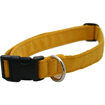 The Good Dog Company-- Hemp Corduroy Dog Collar Available in 9 Colors (Rust, Marigold, Bronze, Avocado, Blue, Plum, Pink, Red, Black) Sold in 6 Sizes