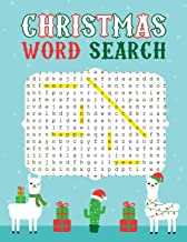 Christmas Word Search: Large Print Word Search Puzzles - Cute Santa Llama (Have A Merry Christmas Activity Books)