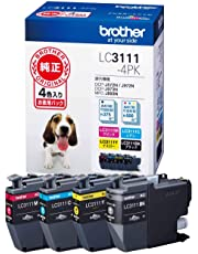 【brother純正】ブラザーインクカートリッジ4色パック LC3111-4PK 対応機種:DCP-J978N/DCP-J577N/MFC-J898N/MFC-J738DN 他