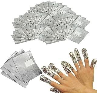 INHDBOX 200Pcs Nail Art Soak Off Removal Gel/Polish/Acrylic/Shellac Foil Wraps