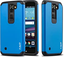 LG Phoenix 2 Case, LG Escape 3 Case, LG K8 2016 Case, J&D [Dual Layer] [Heavy Duty Protection] [Full Body] Hybrid Shock Proof Protective Rugged Case for LG Phoenix 2/LG Escapte 3/LG K8 2016 - Blue