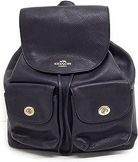 Pebbled Leather Backpack F37410 Black