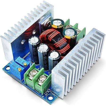 Aideepen DC-DC降圧コンバータモジュール降圧レギュレータ6V40V ~ 1.2V-36V 調整可能なコンバーター電源モジュール300W 20A CC CV降圧型調整電圧レギュレーター12V 24V 36V から 3.3V 5V 9V定電流定電圧トランス