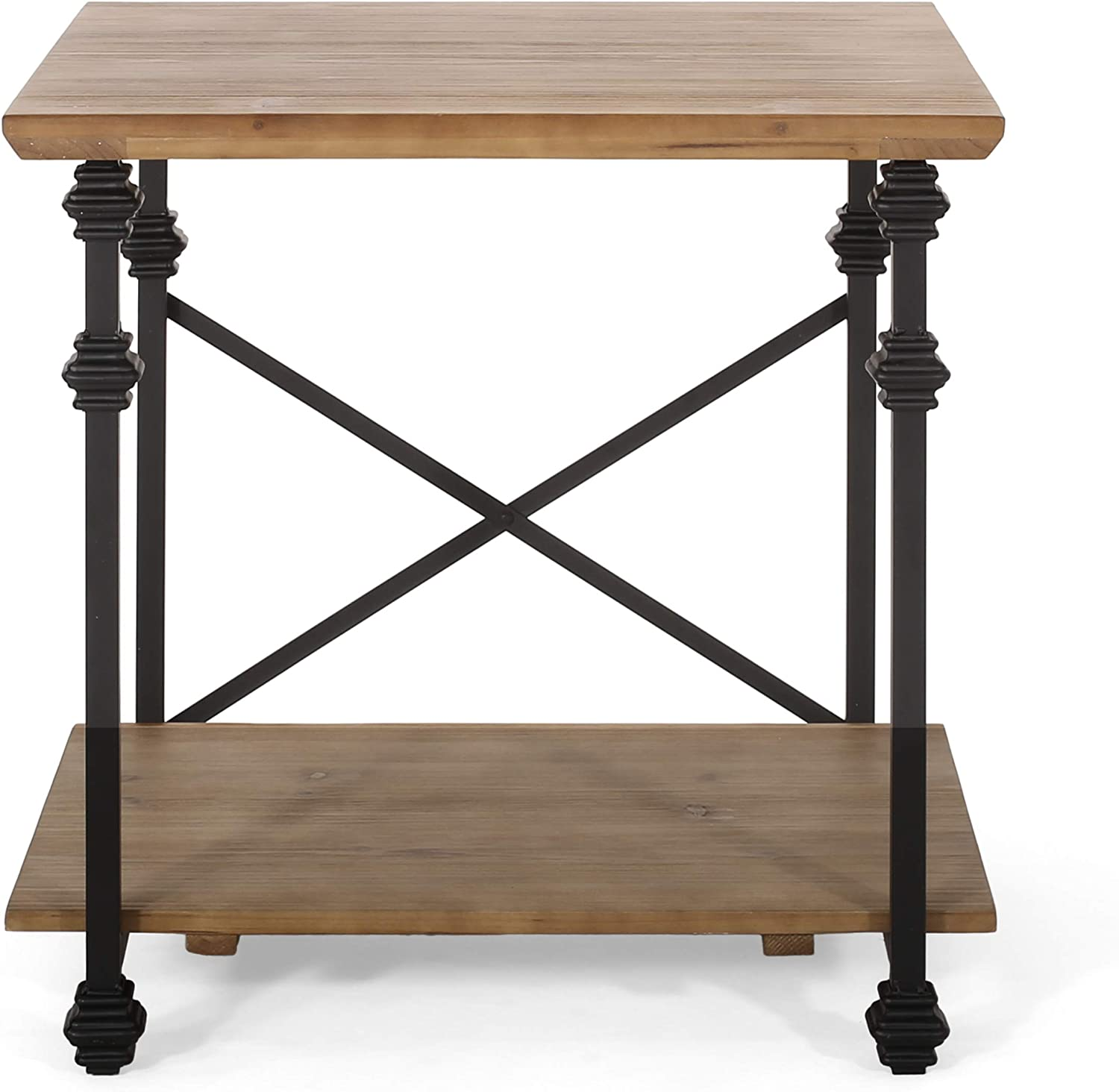 Christopher Knight Home Max 67% OFF Sibyl End Brown Table Fixed price for sale Antique Black